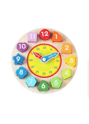 Kid toy Wooden Shape Sorting Clock New Sealed unopened for Sale in Silver Spring, MD