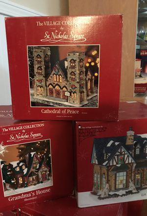 St Nicholas Christmas Village.St Nicholas Square Christmas Village For Sale In Deltona Fl Offerup
