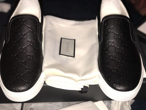 9b79aa99bb93b Black Gucci signature leather slip on sneakers for Sale in San Jose ...