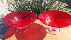 Collectible glass pedestal dish for Sale in Scottsdale, AZ
