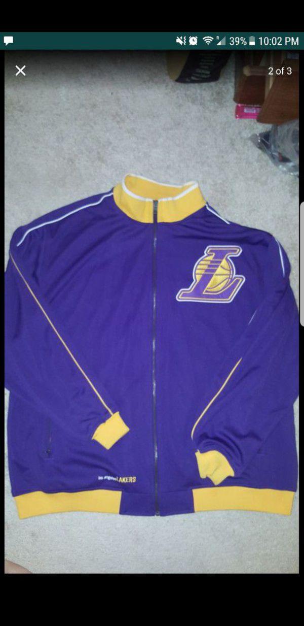 Reebok Nba Fusion Los Angeles Lakers Jacket Mens Size Xl Full Zip
