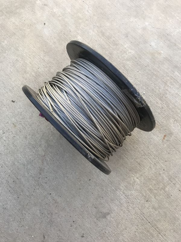 3/16 stainless steel wire rope 7/19 strand 400 ft (General) in ...