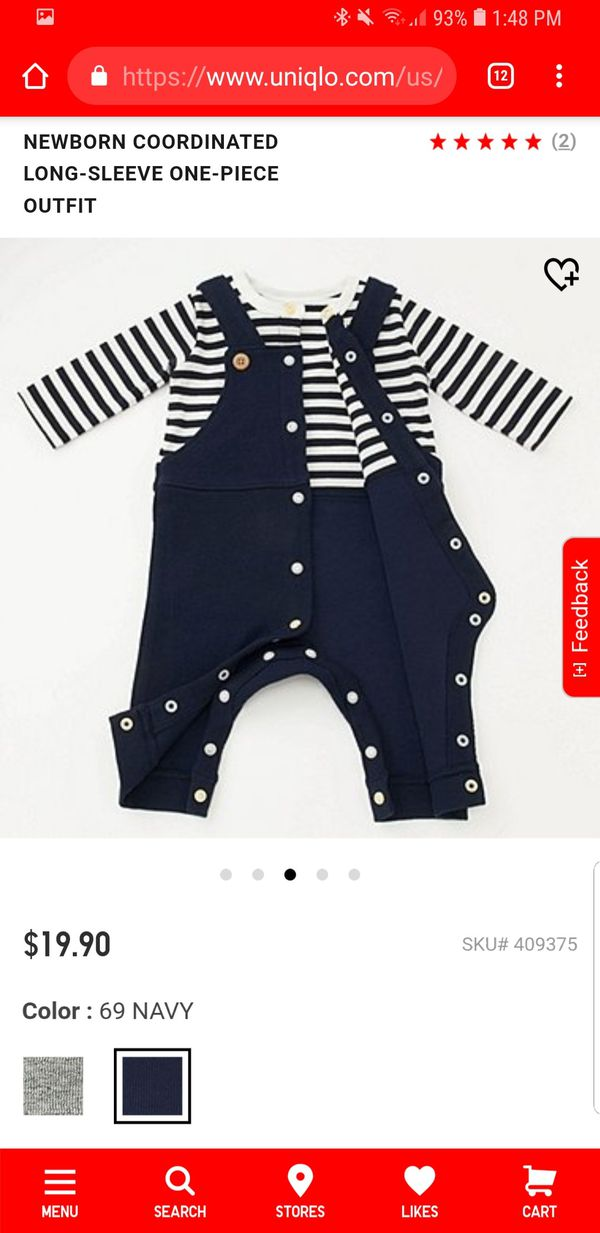 a287b4b66 Uniqlo Newborn Coordinated Long Sleeve One Piece Outfit for Sale in ...