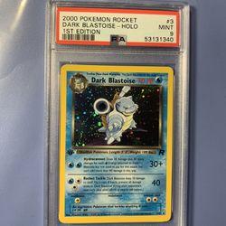 Psa 9 Dark Blastoise Holo Rocket Pokémon Fresh Grade Thumbnail