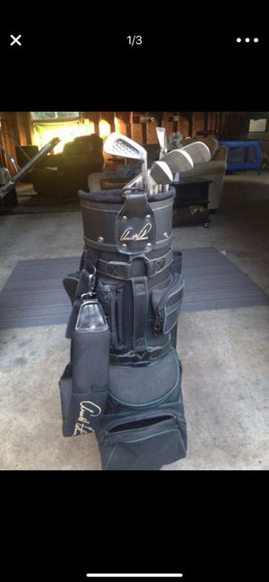 Arnold Palmer Golf bag + honeycomb irons for Sale in Granite Falls, WA