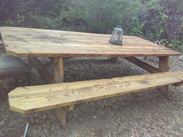 Xl Custom Pine Picnic Table 8 X55