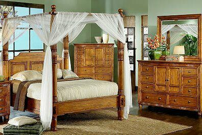 Canopy Cindy Crawford Home Malibu Queen Bedroom Se