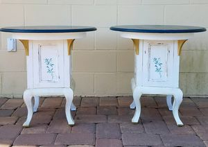 2 Refinished Round Top End Tables for Sale in Sanford, FL