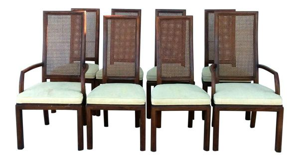 896718a26cf47 Cane Walnut Dining Chairs Set of 8 for Sale in Bakersfield