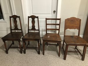 Solid Wood Chairs - dining, kitchen or desk for Sale in Annandale, VA