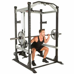 Photo Fitness Reality X-Class Light Commercial High Capacity Olympic Power Cage with commercial Bench