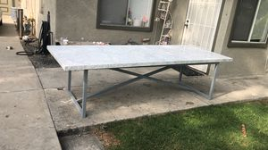 Torano Marble Table Restoration Hardware For Sale In Colton Ca Offerup