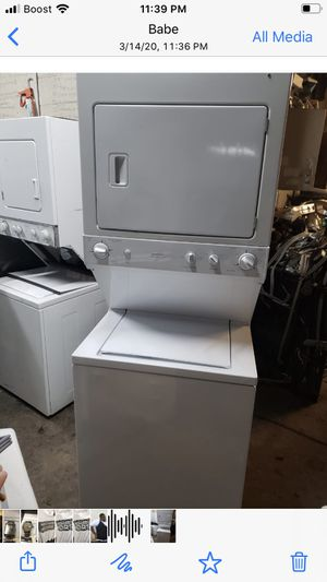 Photo GE stackable washer/dryer set