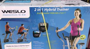 Brand New in box/ Never used - Weslo 2-in-1 hybrid trainer ( Elliptical + Exercise bike) for Sale in Canton, MI