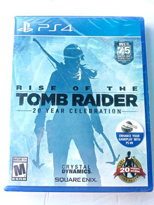 Rise of the Tomb Raider 20 Year Celebration Edition PS4 BRAND NEW SEALED for Sale in San Diego, CA