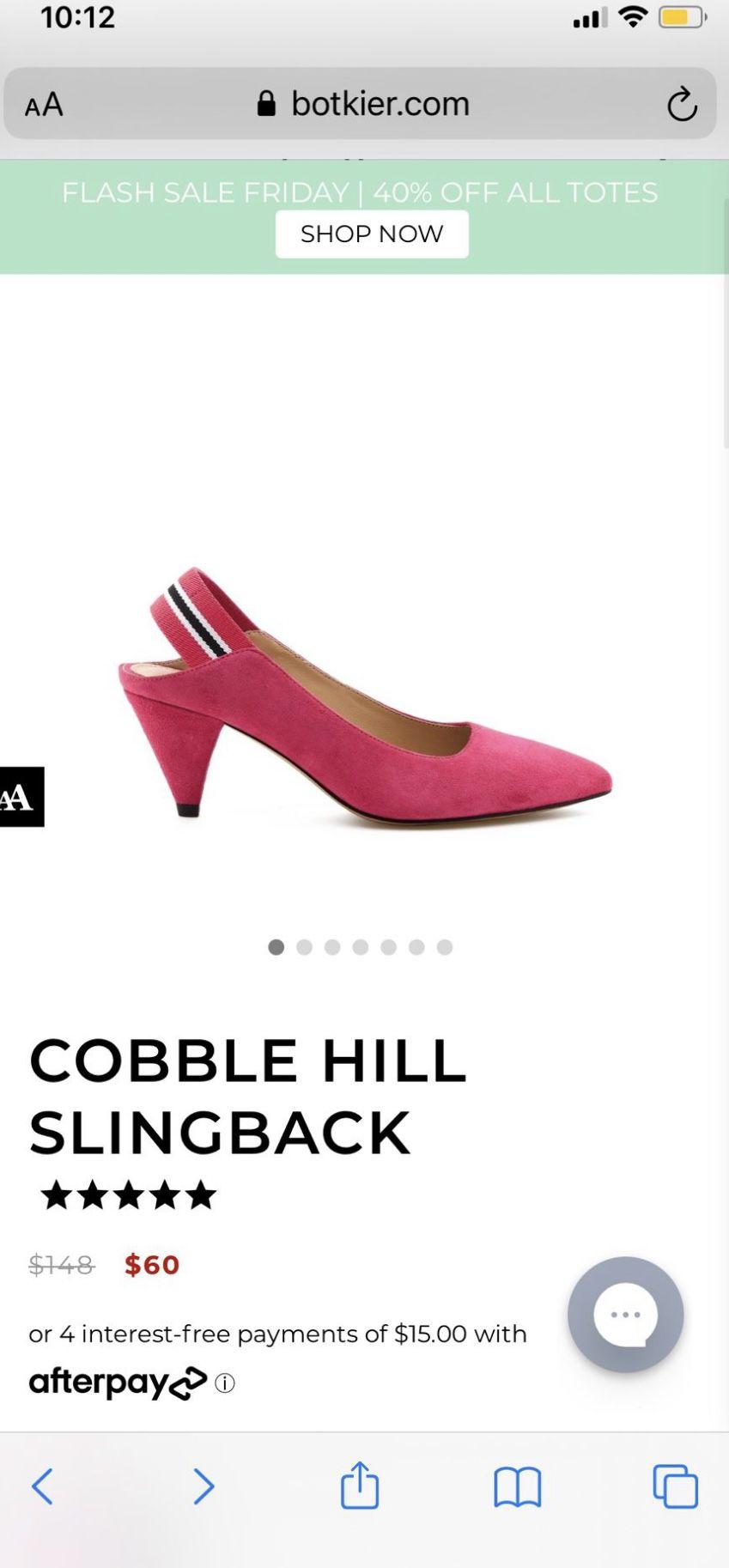 Pink slingbacks Heels Suede 6.5