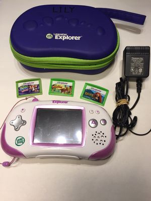 Leapfrog: Leapster Explorer With Accessories, Games and Charger for Sale in Concord, CA