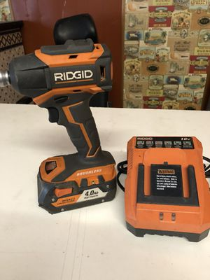 RIDGID BRUSHLESS IMPACT 4ah BATTERY for Sale in St. Louis, MO