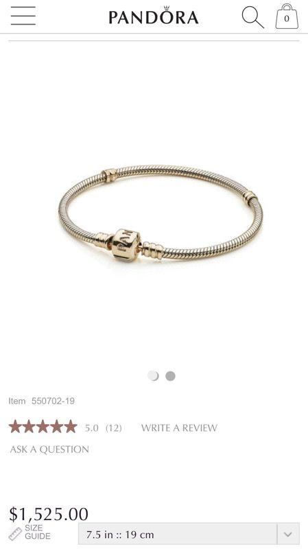e60a5a56e 14 karat gold authentic Pandora bracelet for Sale in Sunrise, FL ...