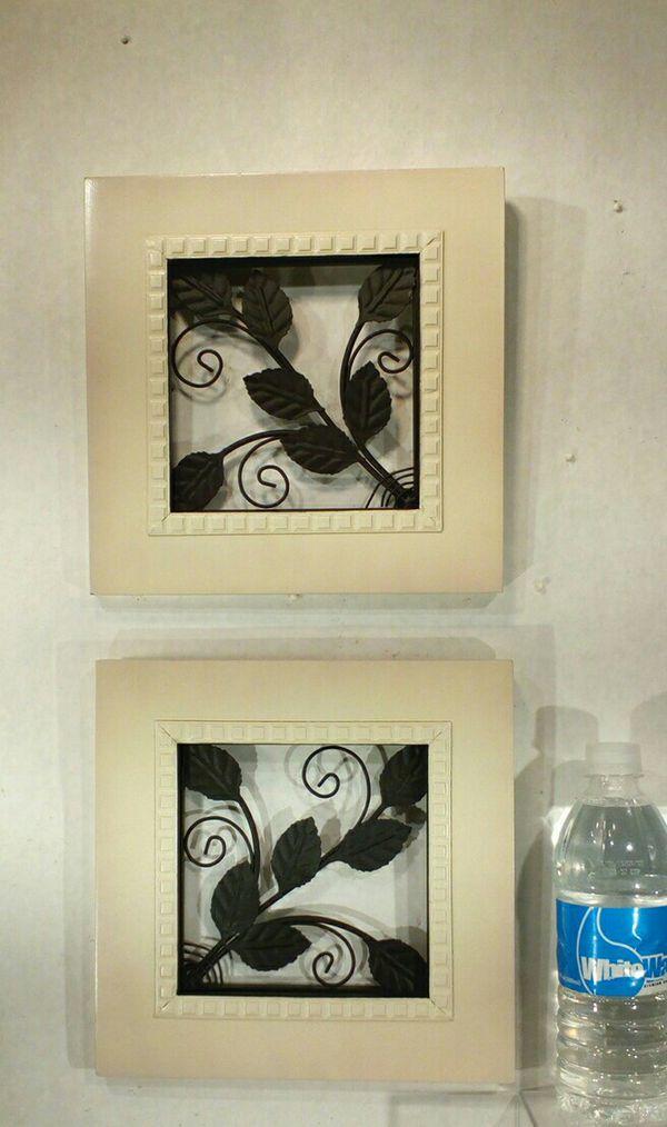 Iron & Wood Scroll Wall Art 2pc Set *PICKUP ONLY* 9\