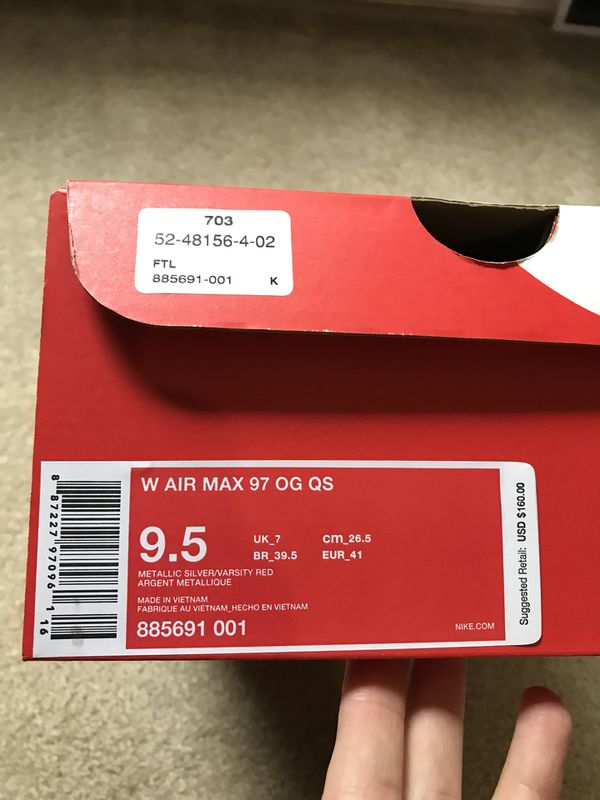 reputable site 3bda4 d2e09 ... nike air max 97 og qs silver bullet (clothing shoes) in tigard or  offerup