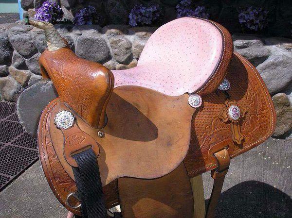Pink Ostrich BW Saddlery 14