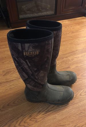 Camo water boots SIZE 9 for Sale in Silver Spring, MD
