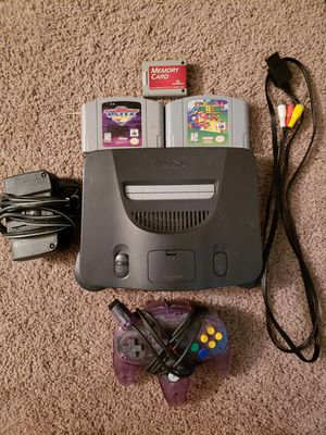 Nintendo 64 with super mario 64 for Sale in Washington, DC