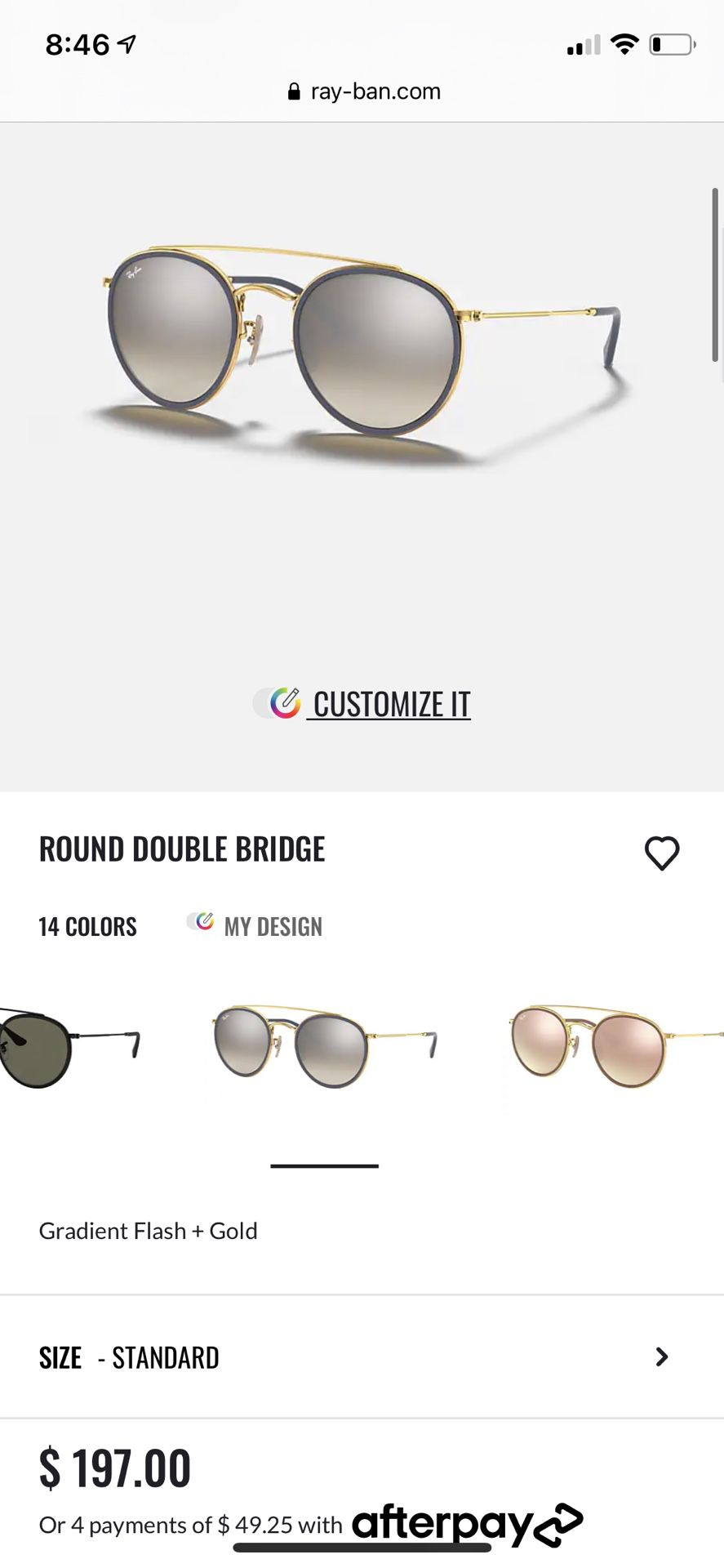 Rayban Round Gold Bridge Blue Circles Never Worn Comes With Everything