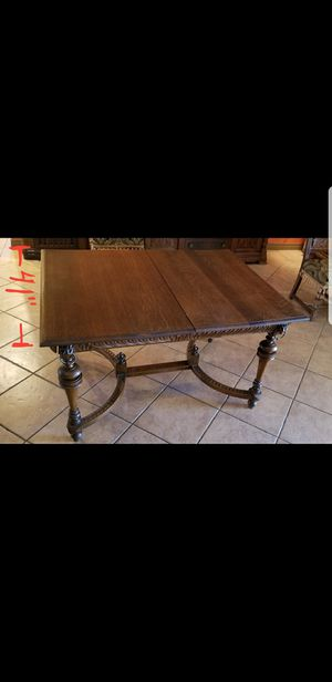 1800s solid oak wood table. for Sale in Hesperia, CA