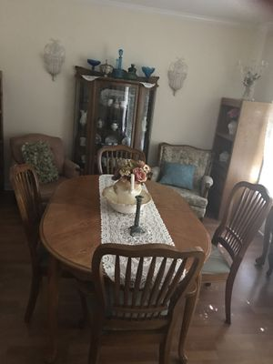 Dining Table With 6 Chairs And A Leaf For In Merced Ca