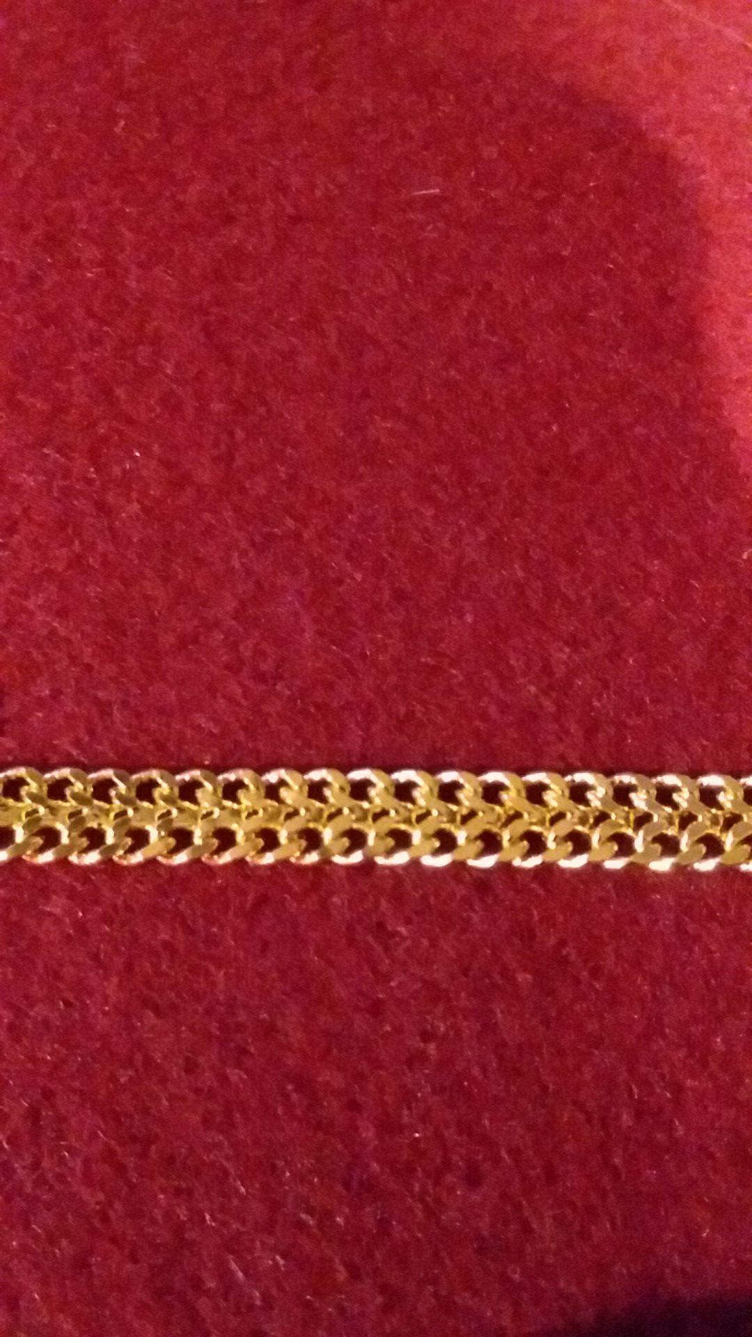 9 IN. GOLD FILLED BRACELET
