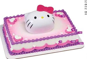 Hello kitty cake topper decopac for Sale in Boston, MA