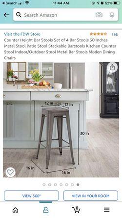 4 Metal Barstools  Thumbnail