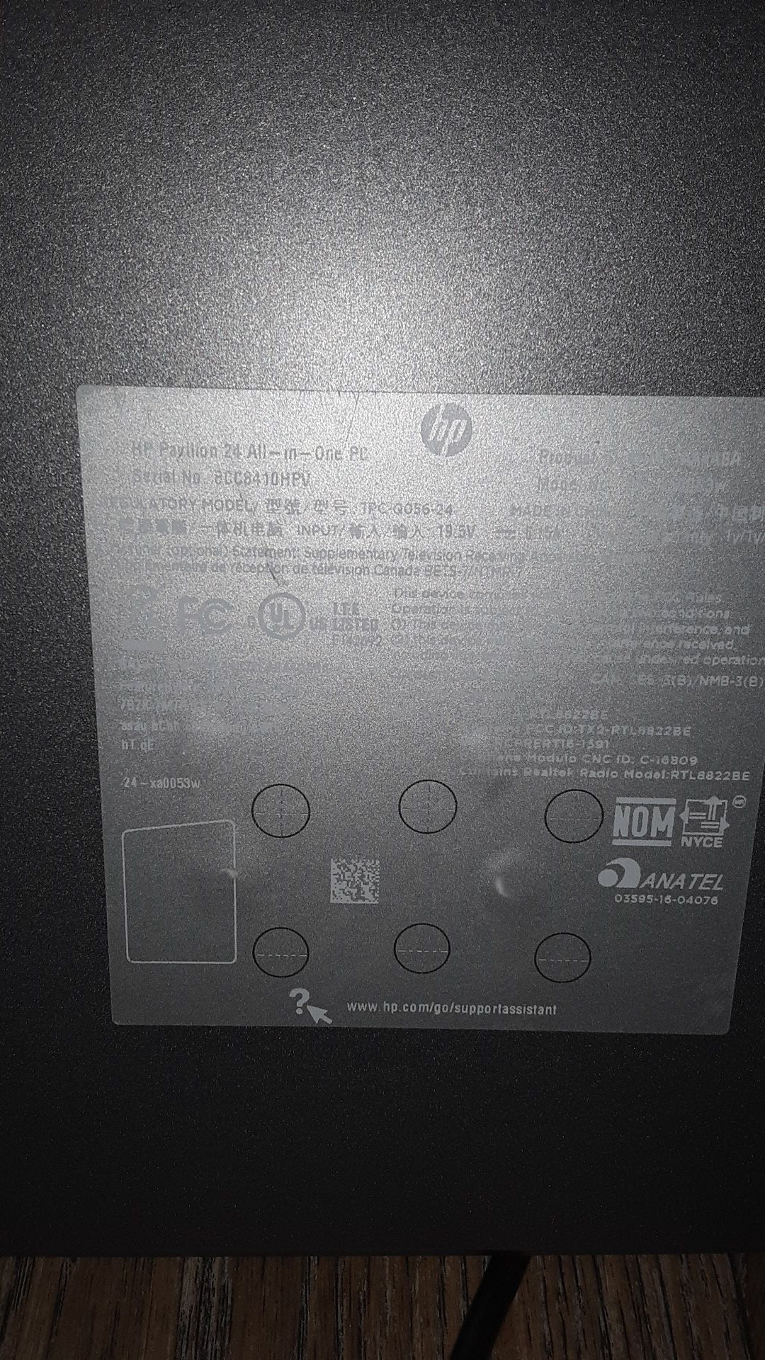 """HP 24"""" all in one touch screen computer"""