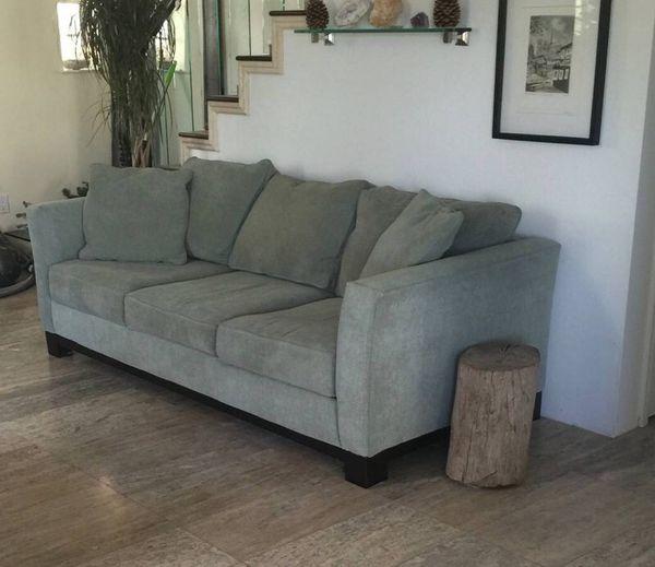 Macys Kenton Fabric Sofa Bed Queen Sleeper Sage Color For Sale