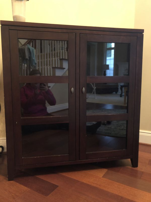 Brown Shelf With Glass Doors For Sale In Issaquah Wa