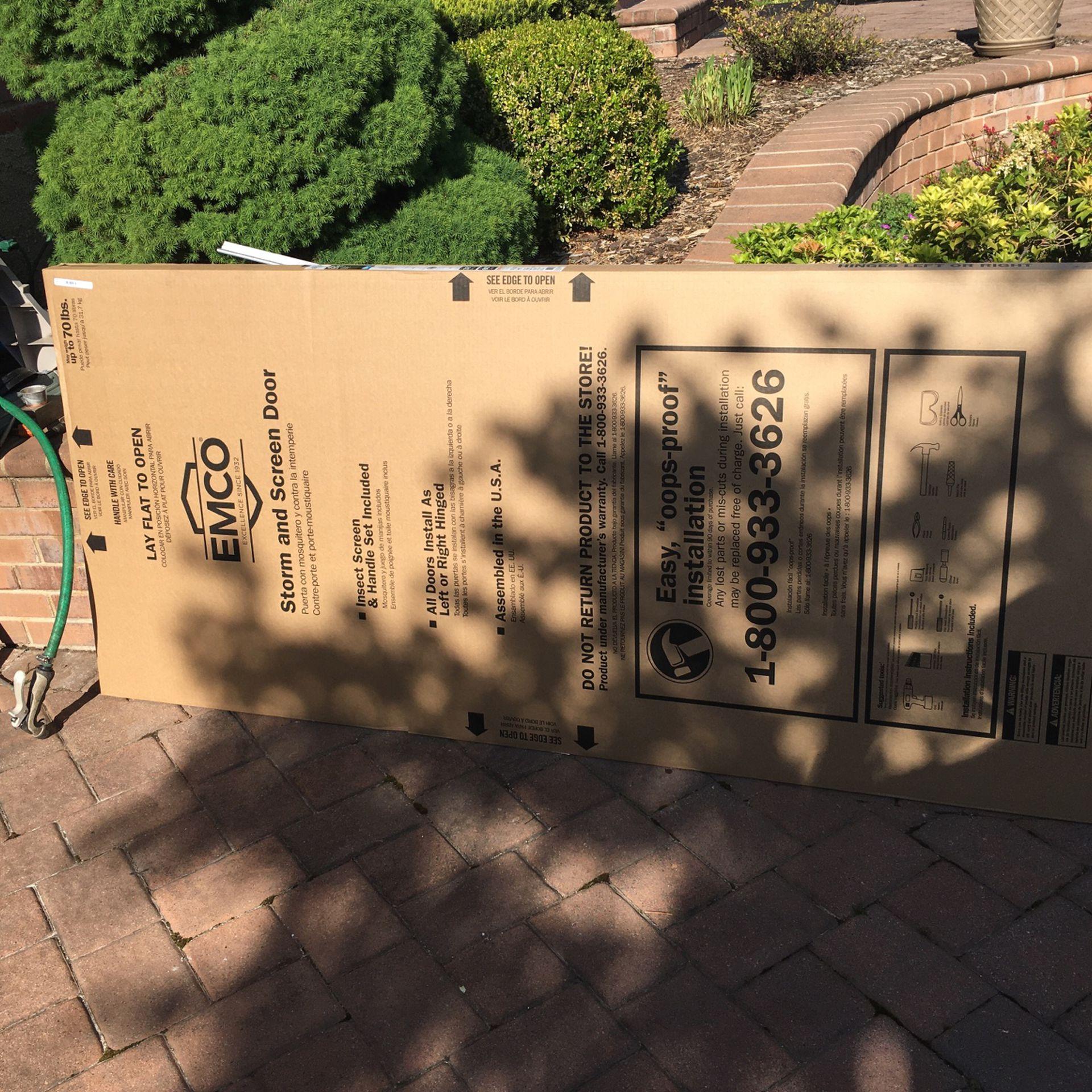 Emco Storm Door 32x80 400 Series NEW In BOX