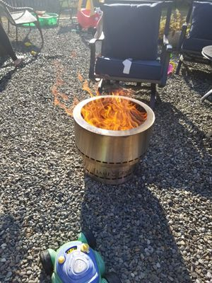 Flame genie pellet fire pit stainless for Sale in Orting, WA