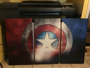 Captain America 3 piece split canvas wall art for Sale in Riverbank, CA