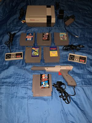 Photo Original Nintendo with Super Mario Bros and more games