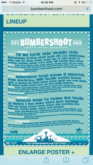 3 day bumbershoot tickets for Sale in Seattle, WA