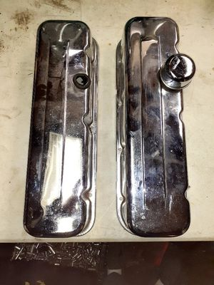Photo USED CHEVY BIG BLOCKS CHROME VALVE COVERS....LIKE NEW!!! ONLY FOR CHEVY