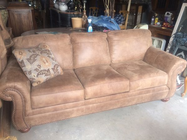 Like new suede leather look sofa/sleeper new cost 1400 for Sale in Queen  Creek, AZ - OfferUp