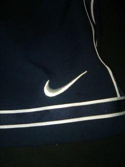 Nike shorts dri fit mens xxl navy blue white no pockets Thumbnail