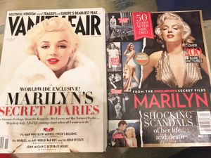 2 Marilyn Monroe Magazines Diaries VANITY FAIR Nov 2010 & Enquirer's Files 2012 for Sale in Nashville, TN