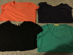 4 v-neck large women's loft t shirts. All cozy and easy to wear. for sale  Broken Arrow, OK