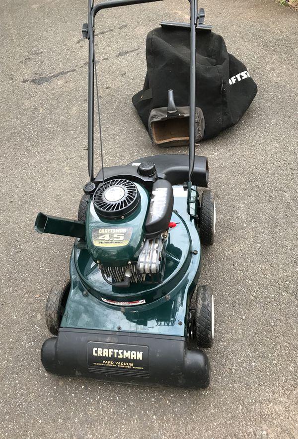 Craftsman 4 5 Hp Tecumseh Engine Leaf Vacuum It Will