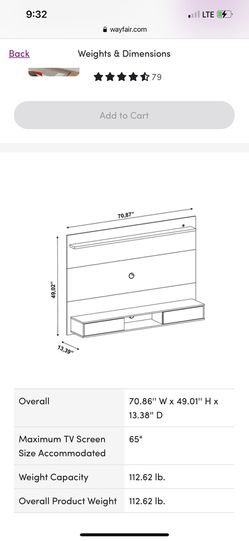 """TV Stand For Tv Up To 65"""" Thumbnail"""