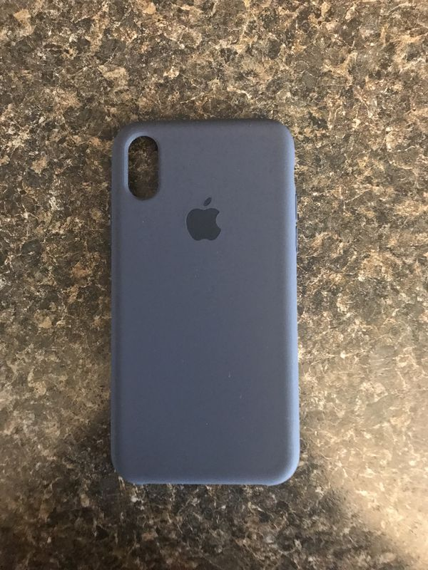 competitive price 8736f 422d1 iPhone X silicone case (midnight blue) for Sale in Edgewater, NJ - OfferUp